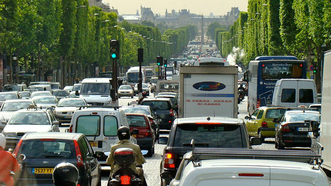 Париж дорожній рух
